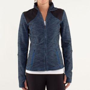 EUC Lululemon Denim Blue Black Forme Jacket- Sz 8